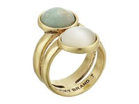 Lucky Brand Double Set Stone Ring Gold Ring