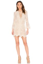 Jens Pirate Booty Reflection Mini Dress Beige