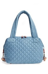 M Z Wallace Mz 'Medium Sutton' Quilted Oxford Nylon Shoulder Tote Blue Cloud