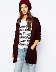 Pull And Bear Pullandbear Cardigan Wine