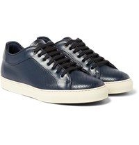 Paul Smith Basso Perforated Leather Sneakers Navy