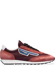 Prada Suede And Nylon Sneakers Red