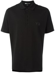 Y 3 Seasonal Polo Shirt Black