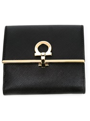 Salvatore Ferragamo Small Flip Lock Coin Purse Black