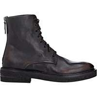 Marsell Women's Leather Back Zip Boots Black