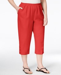 Alfred Dunner Plus Size Classics Collection Capri Pants Coral