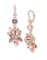 Marchesa Floral Drop Earrings Rose Gold