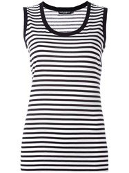 Dolce And Gabbana Striped Tank Top White