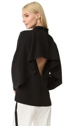 Edit Cape Back Top With Collar Black