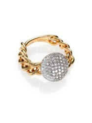 Phillips House Affair Diamond And 14K Yellow Gold Infinity Mini Chain Link Ring