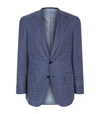 Stefano Ricci Madras Check Tailored Jacket Male Blue