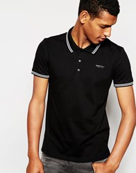 Antony Morato Pique Polo Shirt With Tipping Black