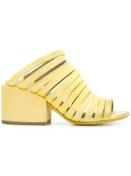 Marsell Strappy Mules Yellow And Orange