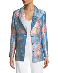 Berek Cherry Blossom Jacquard Jacket Plus Size Multi