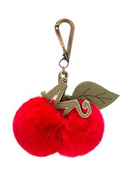 Mr And Mrs Italy Cherries Charm Keyring Red