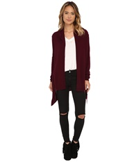 Culture Phit Side Zip Open Drape Cardigan Cranberry Women's Sweater Red