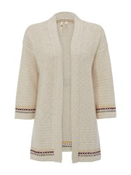 White Stuff Entwined Cardigan Natural