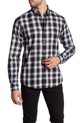 Lands' End Long Sleeve Plaid Shirt Black