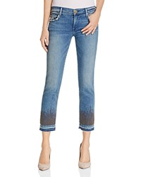 True Religion Cora Cropped Straight Leg Jeans In Gypset Blue Embellished