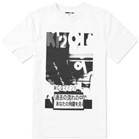 Mcq By Alexander Mcqueen Poster Print Tee White