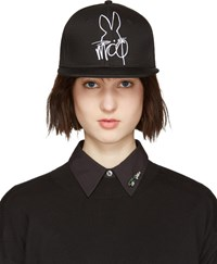 Mcq By Alexander Mcqueen Black And White Logo Cap