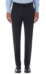 Ermenegildo Zegna Men's Wool Trousers Black