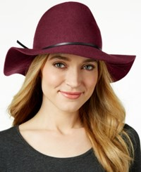 Nine West Pinched Crown Floppy Felt Hat Burgundy