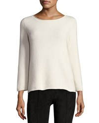 The Row Jette Bracelet Sleeve Cashmere Top Ivory