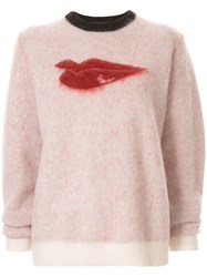 Bella Freud Hot Lips Jumper Pink