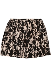 Thakoon Printed Stretch Silk Blend Shorts