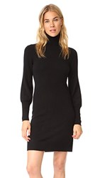 Bop Basics Cashmere Blouson Sleeve Turtleneck Dress Black