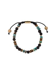 Nialaya Jewelry Adjustable Stone Bracelet Black