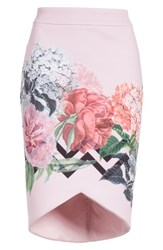 Ted Baker London Soella Pencil Skirt Pale Pink