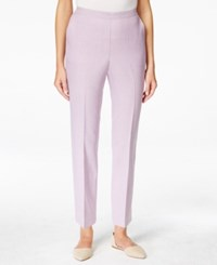 Alfred Dunner Pull On Straight Leg Ankle Pants Lavender