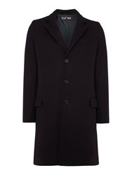 Gloverall Lined Chesterfield Coat Navy