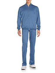 Brioni Relaxed Fit Jacket And Pull On Pants Set Sky Blue