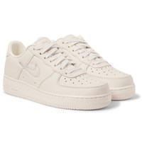 Nikelab Air Force 1 Jewel Swoosh Leather Sneakers Off White