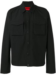 The North Face 'Hoodoo' Wind Stopped Shirt Jacket Men Polyamide Polyester Spandex Elastane L Black