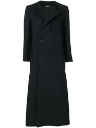 Yang Li Long Side Breasted Coat Cotton Viscose Black