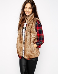Pull And Bear Pullandbear Faux Fur Gilet