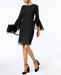 Inc International Concepts Petite Bell Sleeve Shift Dress Created For Macy's Deep Black