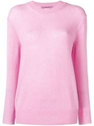 Ermanno Scervino Embroidered Logo Jumper Pink