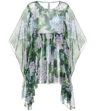 Dolce And Gabbana Printed Silk Kaftan Multicoloured