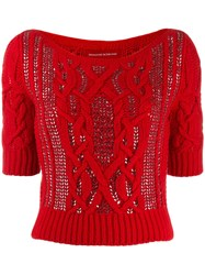 Ermanno Scervino Knitted Embellished Jumper 60