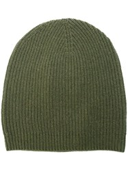 P.A.R.O.S.H. Ribbed Beanie Hat Green