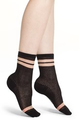 Richer Poorer Cosmic Ankle Socks Black