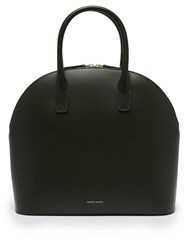 Mansur Gavriel Top Handle Leather Bag Dark Green