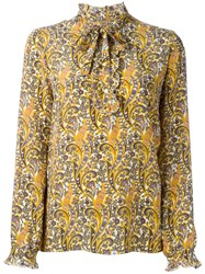 Fay Paisley Print Blouse Yellow And Orange
