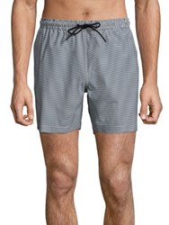 Theory Cosmos Clymer Striped Swim Shorts Trim Stripe