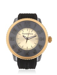 Tendence Flash Led Black And Gold Watch Black Gold